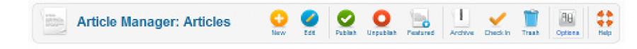 Joomla toolbar